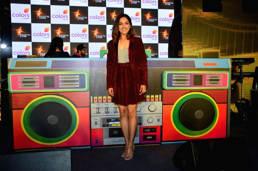 "Singer Neeti Mohan at the launch of third edition of live singing reality show ""Rising Star"" in Mumbai, on March 13, 2019."