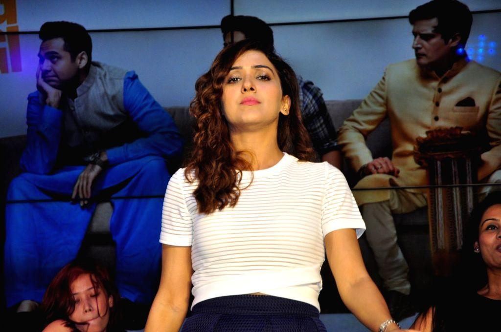 Singer Neeti Mohan during the music launch of film Happy Bhag Jayegi, in Mumbai on Aug 2, 2016.