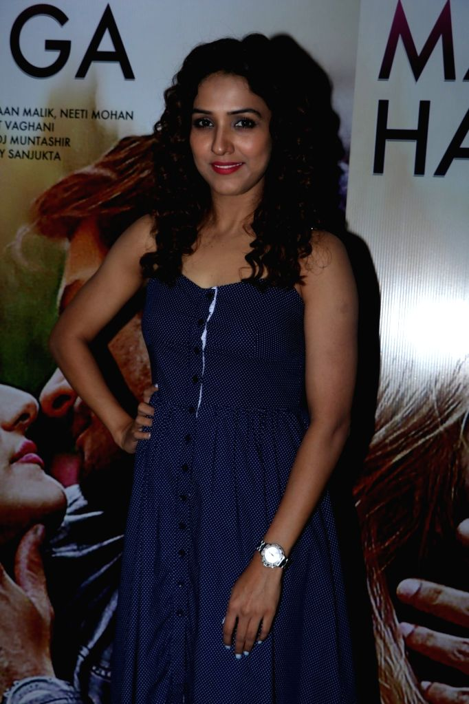 Singer Neeti Mohan during the song launch of Pyaar Manga Hai, in Mumbai on August 3, 2016