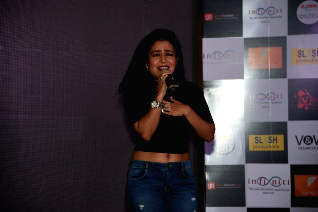 Singer Neha Kakkar during the music launch of the film 'Fever' in Mumbai.