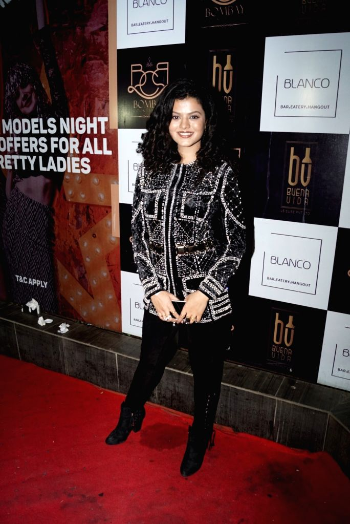 Singer Palak Muchhal during music composer Palash Muchhal's birthday celebration in Mumbai on May 22, 2018.
