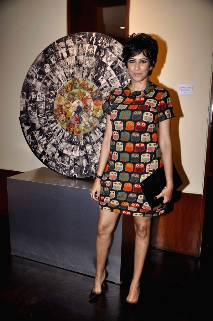 Singer Pratichee Mohapatra attends Gallerie Angel Arts curated work `In An Artist's Mind` exhibition in Mumbai on August 14, 2015.