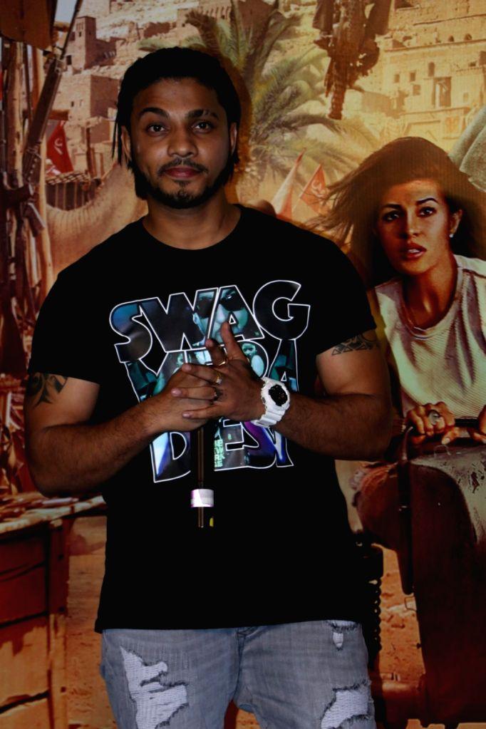 Singer Raftaar during the promotion of film Dishoom, in Mumbai on July 2, 2016.