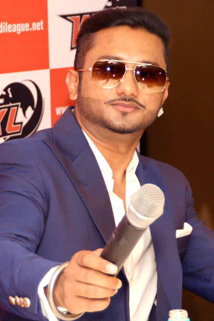 Singer-rapper Honey Singh during a press conference regarding his kabaddi team - `Yo Yo Tigers` ahead of World Kabaddi League (WKL) in New Delhi on July 11, 2014.