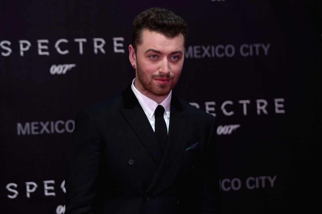 ": Singer Sam Smith poses during the red carpet of the movie ""Spectre"" of the James Bond saga in Mexico City, capital of Mexico, on Nov. 2, 2015. ..."
