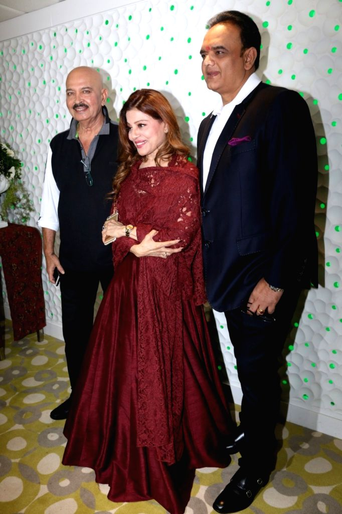 Singer Sapna Mukherjee, Rakesh Roshan, Filmmaker Ramesh Taurani, Ramesh Sippy during the launch of preview theatre Cinetheque in Mumbai on Nov 29, 2016. - Ramesh Taurani, Sapna Mukherjee and Rakesh Roshan