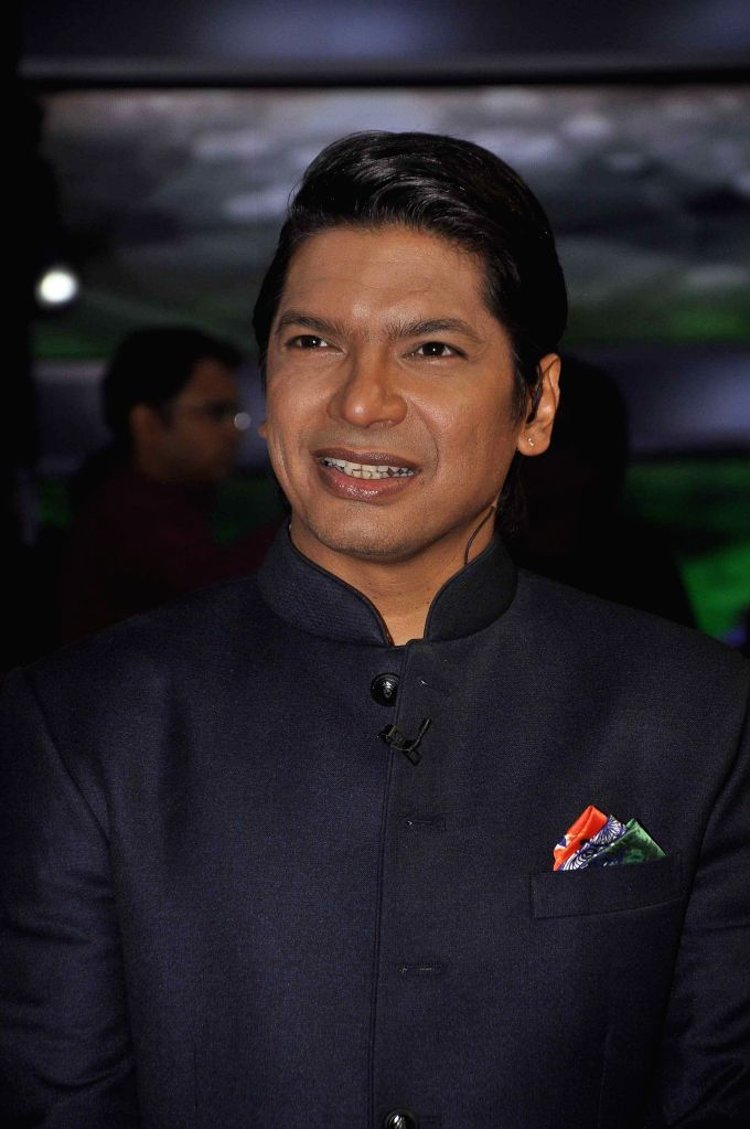 Singer Shaan on the sets of & TV Voice India for the special episode shoot for Independence Day in Mumbai, on Aug 10, 2015.
