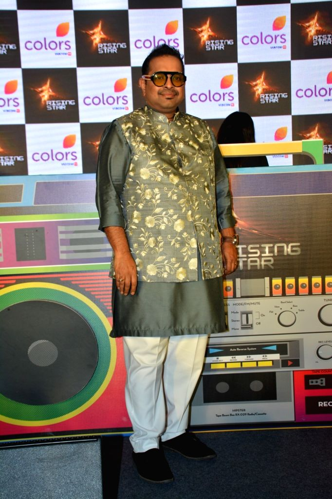 "Singer Shankar Mahadevan at the launch of third edition of live singing reality show ""Rising Star"" in Mumbai, on March 13, 2019."