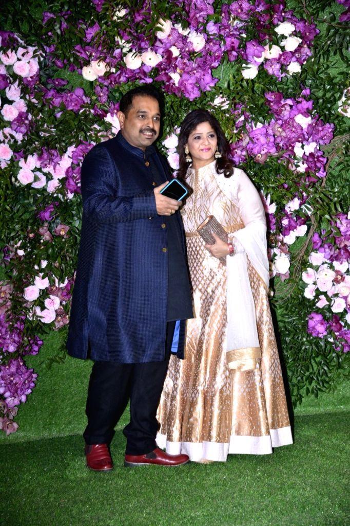 Singer Shankar Mahadevan at the wedding festivities of Akash Ambani and Shloka Mehta in Mumbai on March 9, 2019. - Akash Ambani and Shloka Mehta