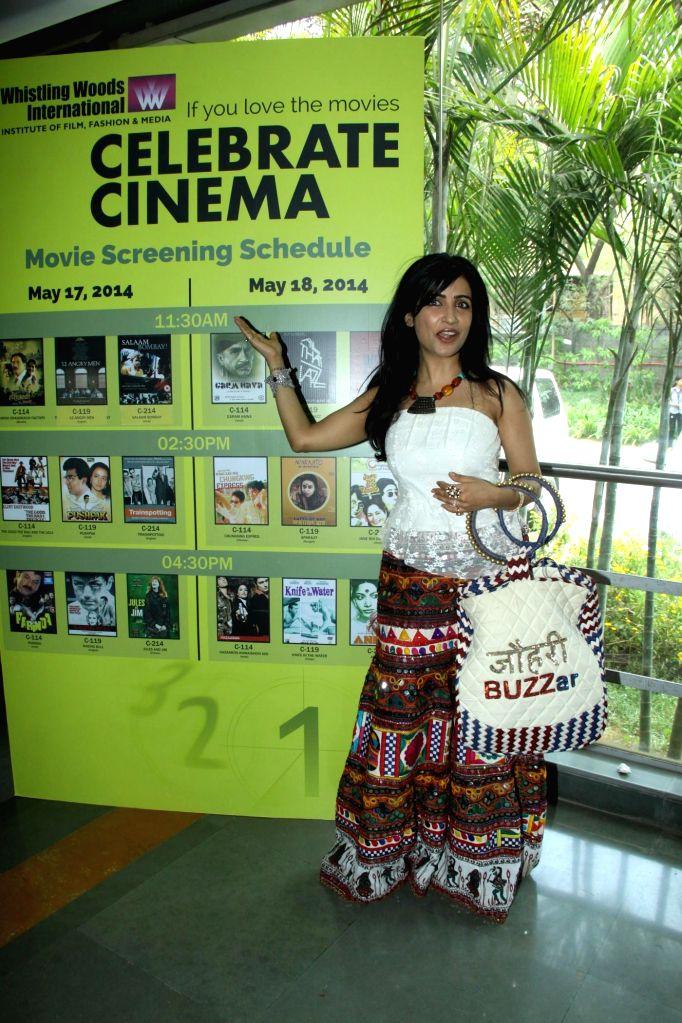 Singer Shibani Kashyap during the inauguration of `Celebrate Cinema` festival organised by Whistling Woods International in Mumbai on May 17, 2014. - Shibani Kashyap