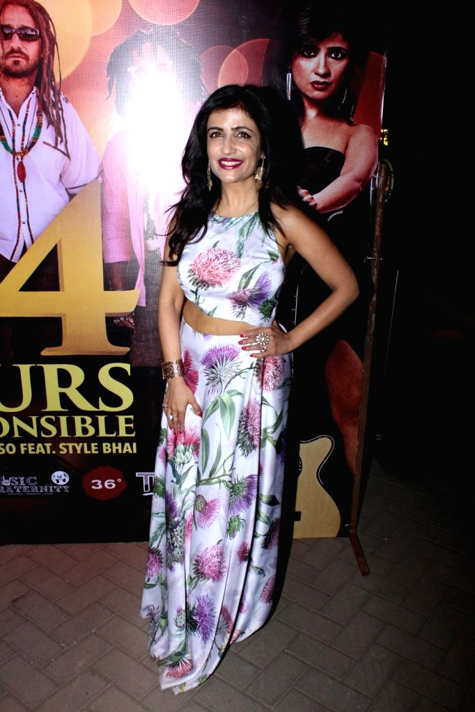 Singer Shibani Kashyap during the launch of music album titled '24 Hours - Irresponsible' by singer Shibani Kashyap in collaboration with music band Big Mountain in Mumbai on March 15, 2017. - Shibani Kashyap