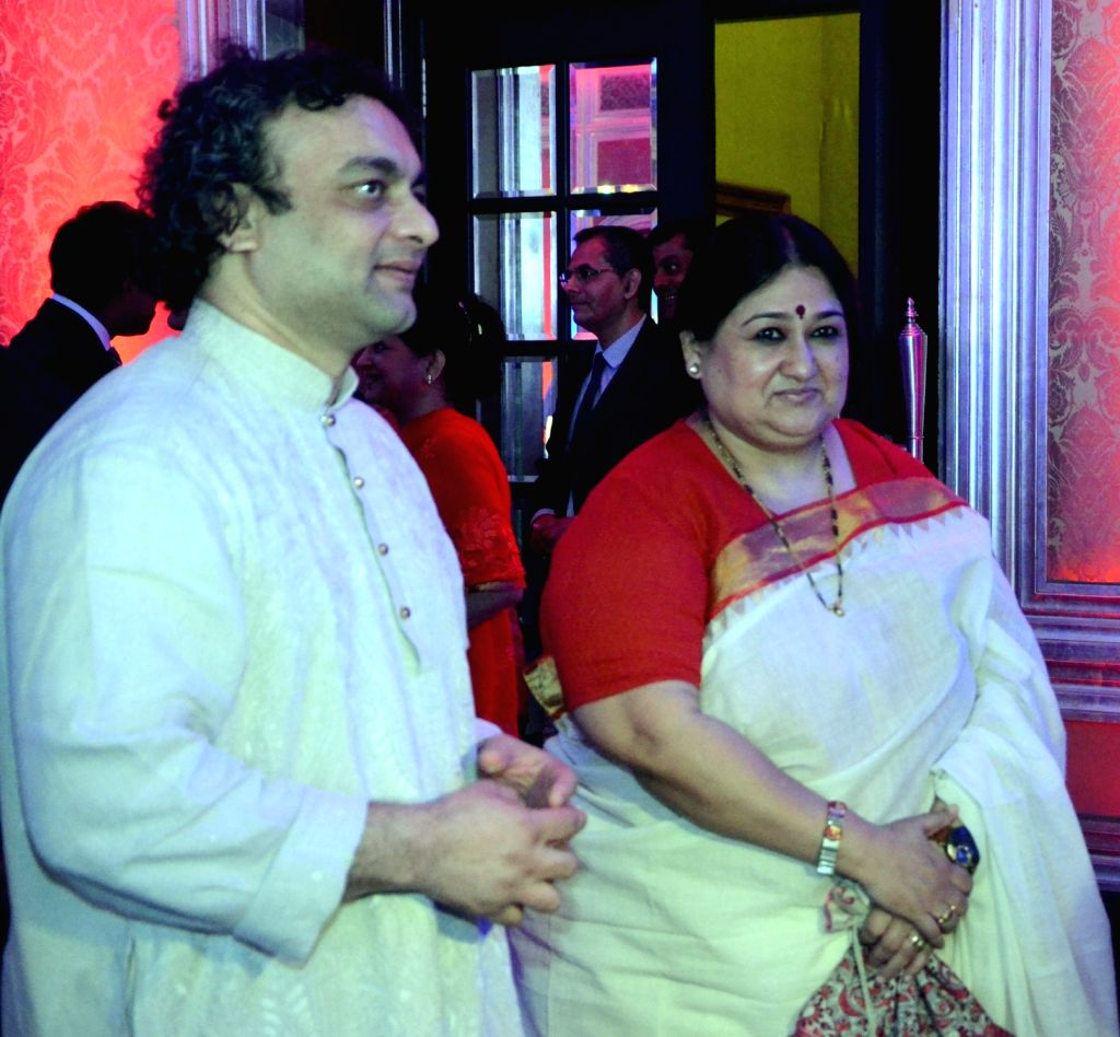 Singer Shubha Mudgal during a reception hosted by the British Deputy High Commissioner Shekhar Iyer to celebrate the 90th birthday of Queen Elizabeth II in Mumbai on May 26, 2016.