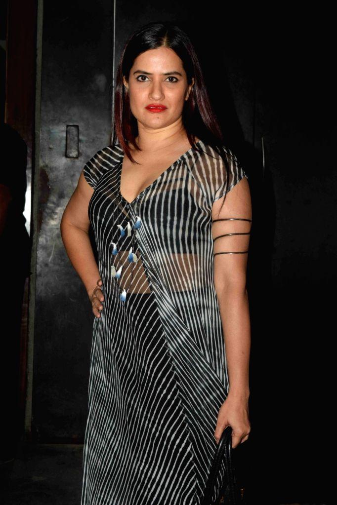 Singer Sona Mohapatra during Radio One's Superwoman awards in Mumbai on Oct 22, 2015.