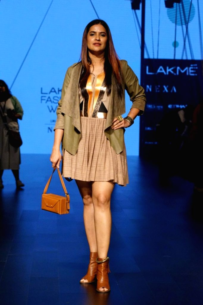 Singer Sona Mohapatra during the Lakme Fashion Week Winter/Festive 2017 in Mumbai on Aug 18, 2017.