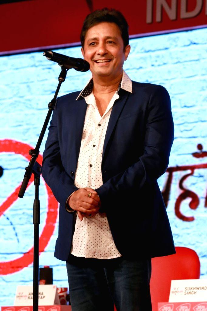 "Singer Sukhwinder Singh during  ""India Today Safaigiri Awards"" ceremony in New Delhi on Oct 2, 2016. - Sukhwinder Singh"