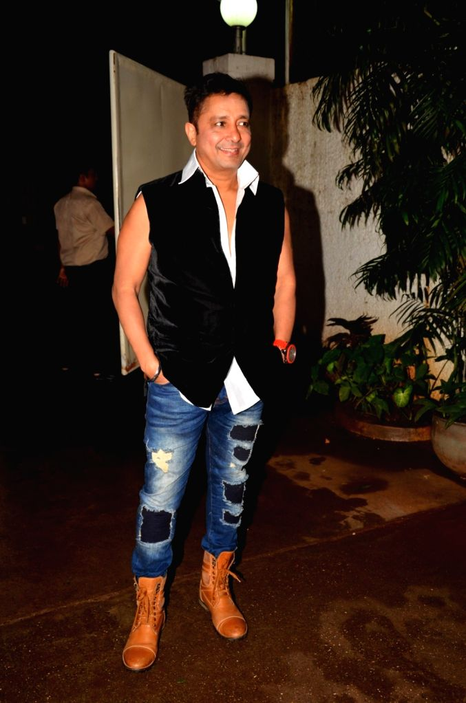 Singer Sukhwinder Singh during the special screening of the film Madaari, in Mumbai on July 19, 2016. - Sukhwinder Singh
