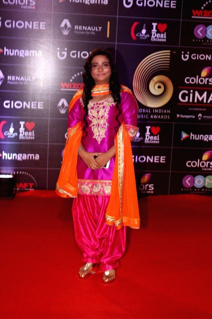 Singer Swati Sharma during the 6th edition of the GiMA Awards 2016 in Mumbai on April 1, 2016 - Swati Sharma