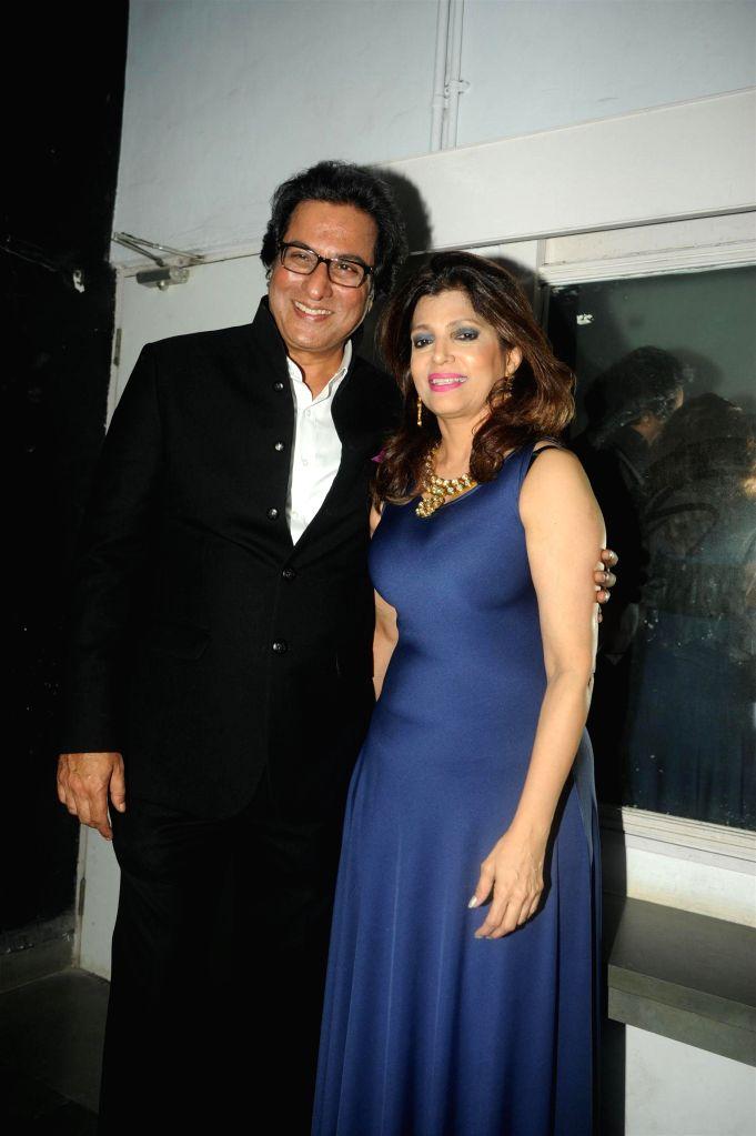 Singer Talat Aziz along with his wife Beena Aziz during the Bollywood Classics with Ghazal singer Talat Aziz ``Yeh Shaam Mastani`` show in Mumbai, on Aug 20, 2015.