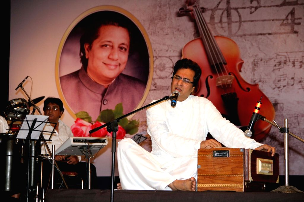 Singer Talat Aziz at a function organized by Sath Sangat and Surel Creations in association with 9X Jhakaas. Eminent names from the music industry had come together to pay a rich musical tribute to ..