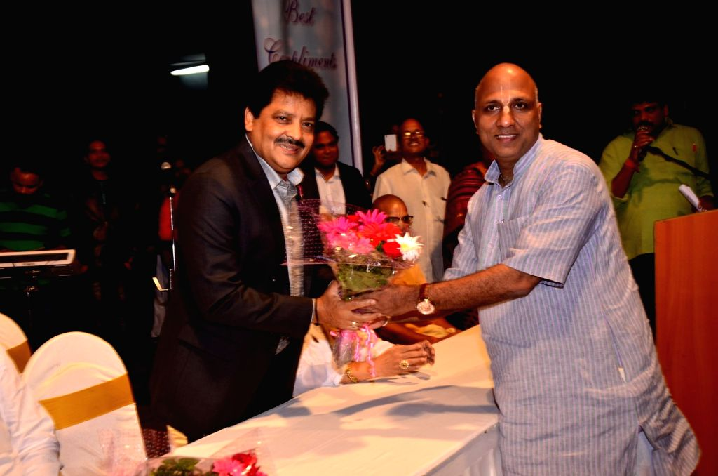 Singer Udit Narayan during the Rashtriya Mahila Samman and Rashtriya Gaurav Samman function, on July 8, 2016.