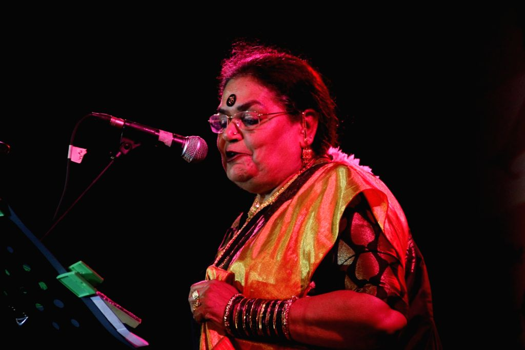 Singer Usha Uthup at the The Kala Ghoda Arts Festival 2013 in Mumbai.