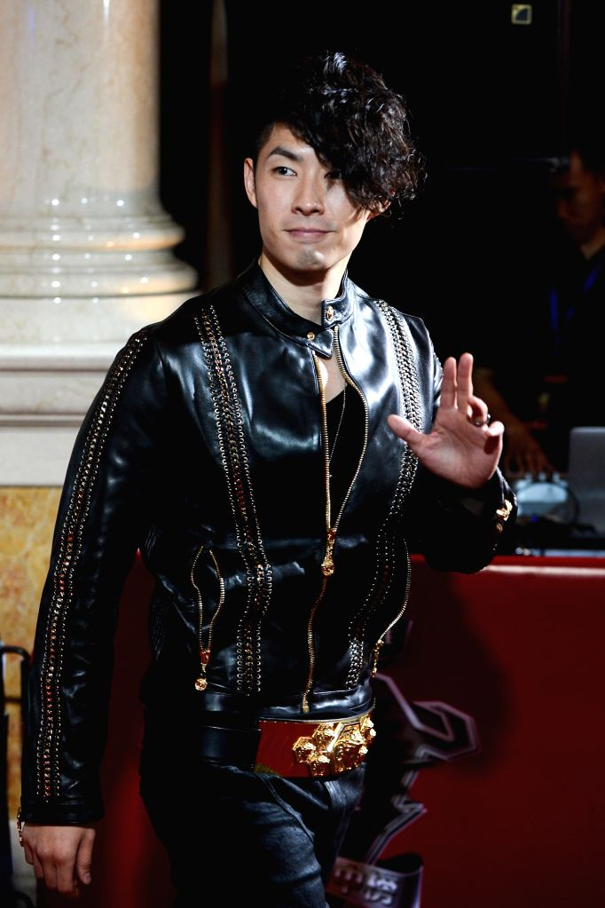Singer Vanness Wu during the 18th Global Chinese Chart in Macau of China on April 23, 2014.