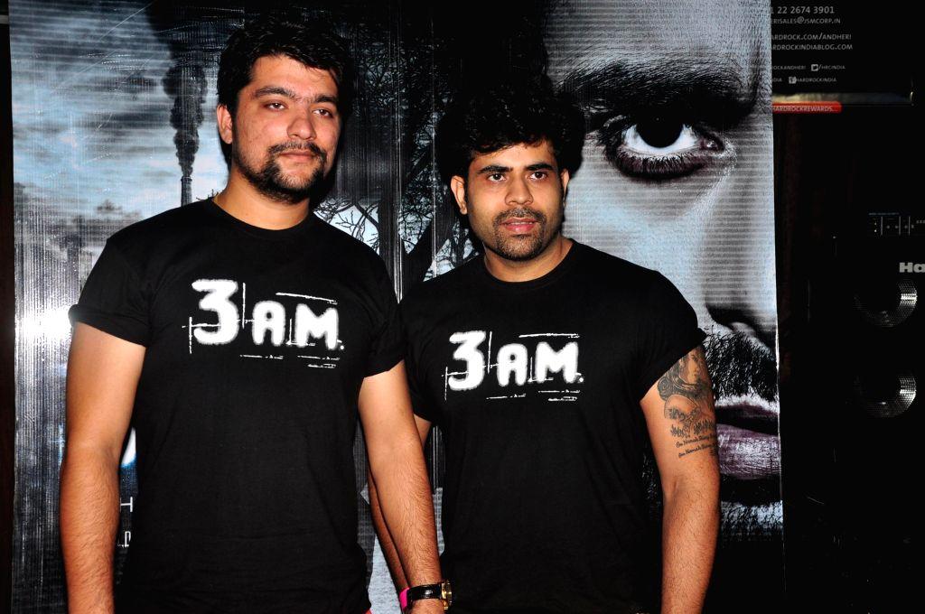 Singers Manan Bhardwaj and Rajat Dipakk during the music launch of film 3AM, in Mumbai, on Sept 9, 2014. - Manan Bhardwaj