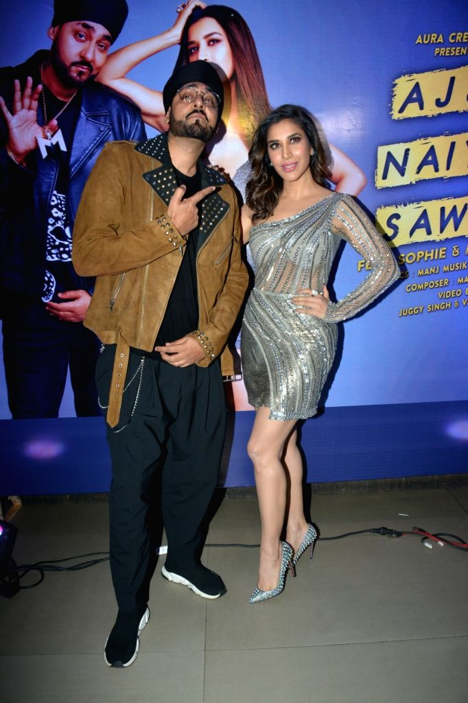 Singers Sophie Choudry and Manj Musik at the launch of their new song in Mumbai, on Feb 5, 2019.