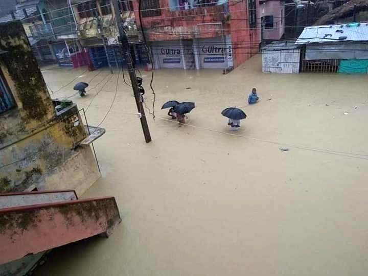 Sitamarhi: Floods in Sitamarhi, Bihar on July 14, 2019. (Photo: IANS)