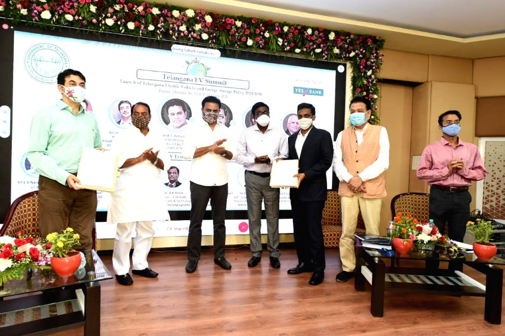 Six EV firms to invest over Rs.2,500 crore in Telangana'.