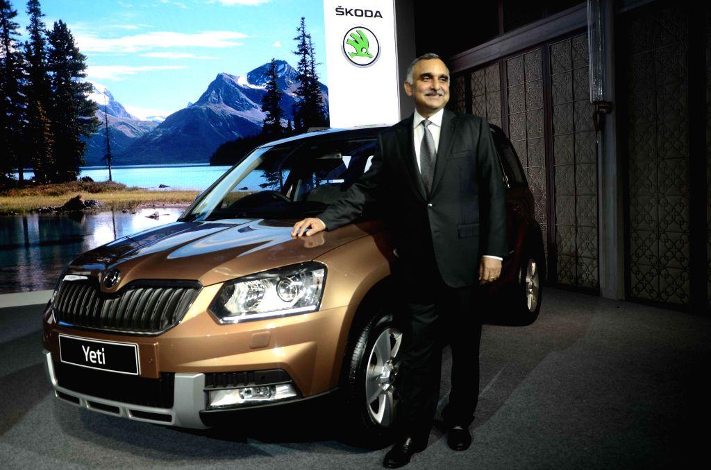 Skoda Auto India Chairman and Managing Director Sudhir Rao launches Yeti in Mumbai on Sept 10, 2014. - Sudhir Rao