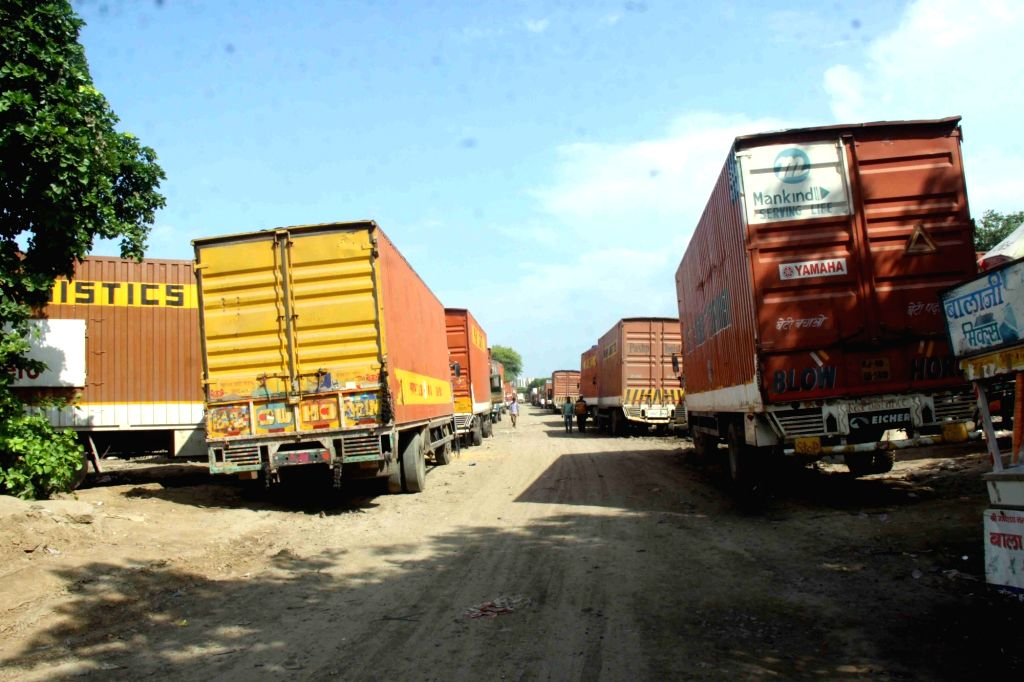 Slowdown Pain: Trucks stranded in Gurugram due to want of work, as demand from auto industry recede on the back of a sales slowdown.