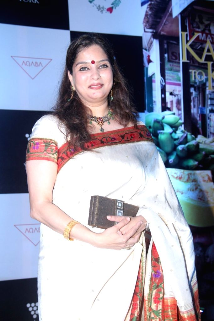 Smita Deo, wife of filmmaker Abhinay Deo during the launch of cook book `Karwar to Kolhapur via Mumbai`, in Mumbai on April 17, 2016.