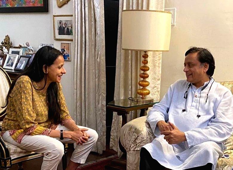 Smita Tharoor and Shashi Tharoor. (Photo Courtesy: Instagram) - Shashi Tharoor