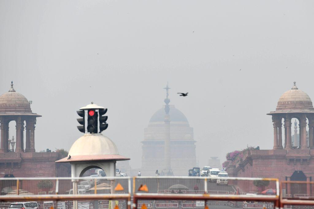 Smog engulfs the national capital on Oct 22, 2020.