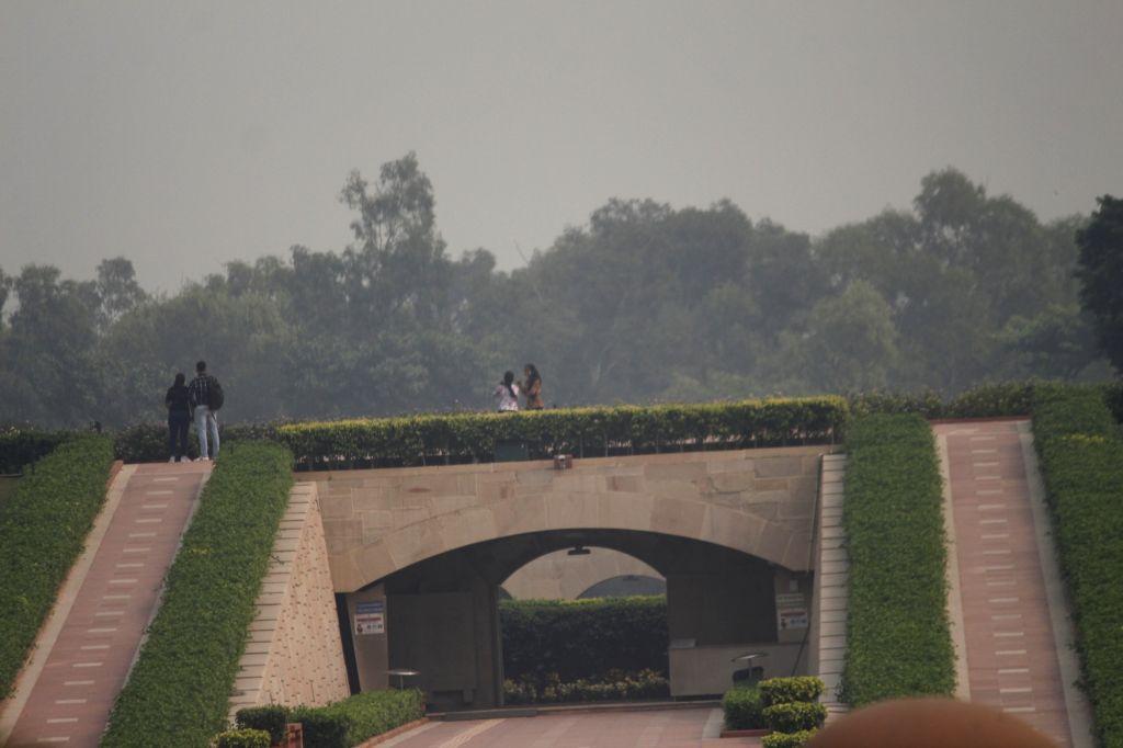 Smog engulfs the national capital on Oct 26, 2020.