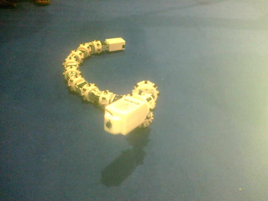 Snake robot can be used in rescue operations during disasters.
