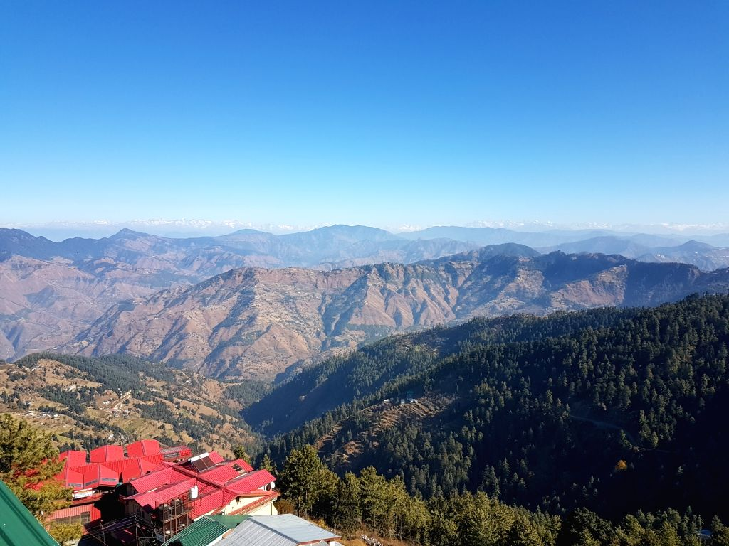 Snow-capped Himalayan peaks and Cedar forests can be viewed from the Royal Tulip Resort in Kufri-Himachal Pradesh.
