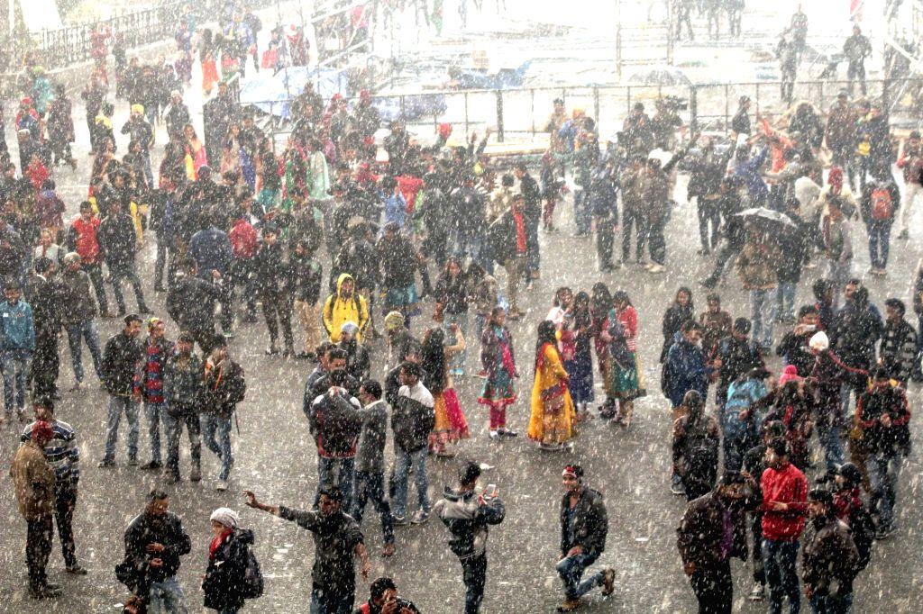 Snowfall in Shimla.