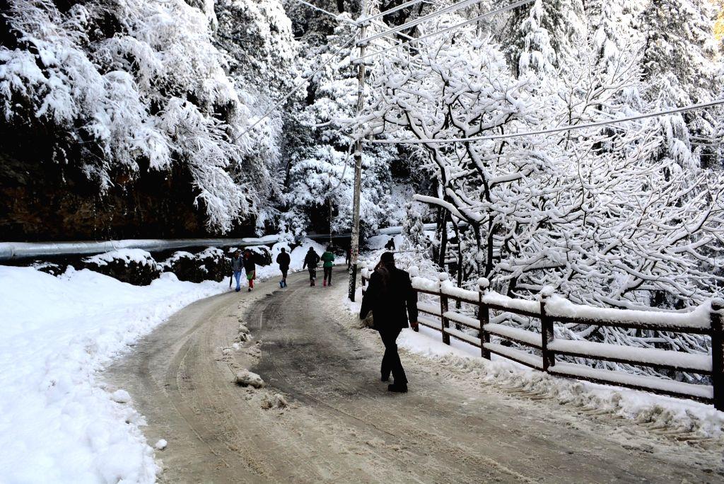 Snowfall in Shimla.  (File Photo: IANS)