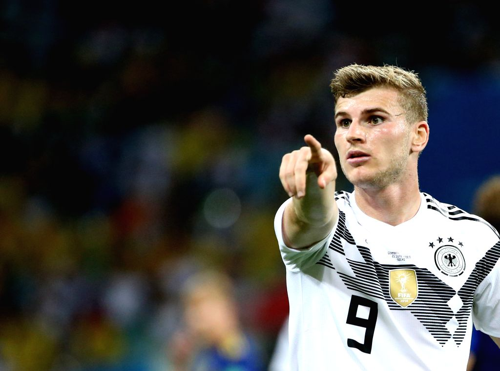 SOCHI, June 23, 2018 - Timo Werner of Germany reacts during the 2018 FIFA World Cup Group F match between Germany and Sweden in Sochi, Russia, June 23, 2018.