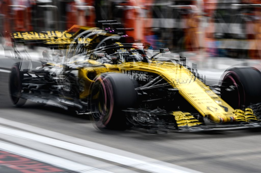 SOCHI, Sept. 28, 2018 (Xinhua) -- Nico Hulkenberg of Renault Sport drives on the pit-lane during the 2nd practice session at Formula 1 VTB Grand Prix in Sochi, Russia, on Sept. 28, 2018. (Xinhua/Evgeny Sinitsyn/IANS)