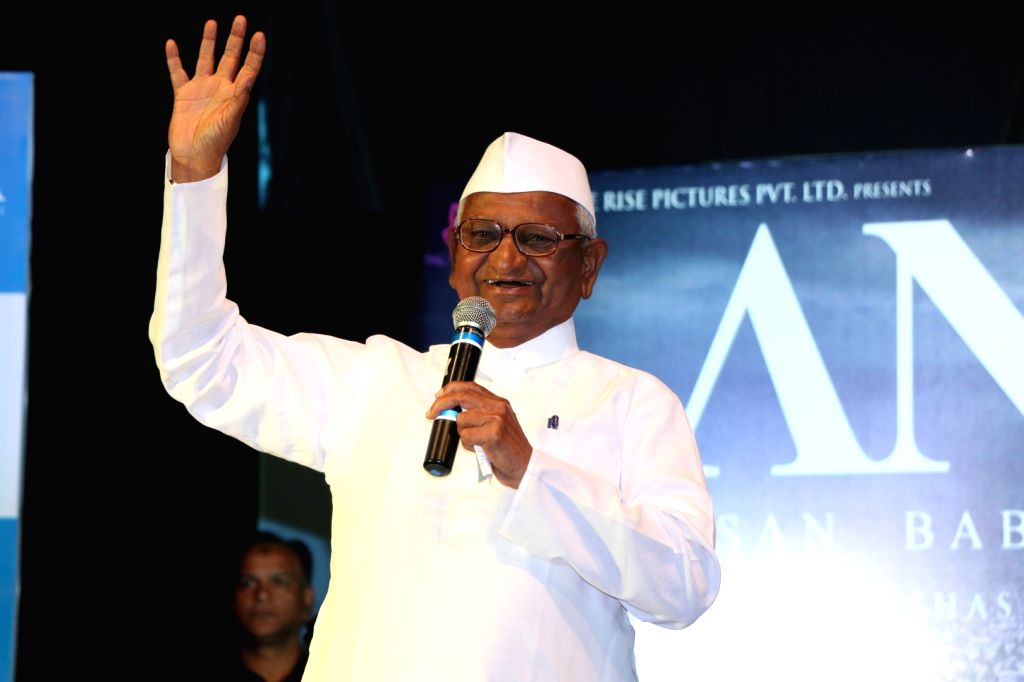 Social activist Anna Hazare during the poster launch of film Anna in Mumbai on June 27, 2016.