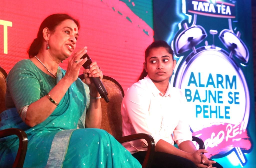Social Activist Dr. Ranjana Kumari and Indian Gymnast Dipa Karmakar during Tata Tea Jaago Re 2.0 Media Roundtable in New Delhi, on June 22, 2017.