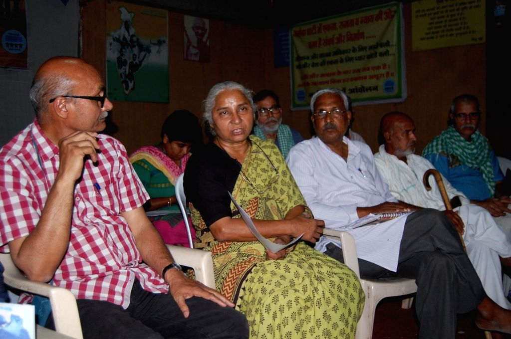 Social activist Medha Patkar during a programme in Bhopal on April 4, 2018.