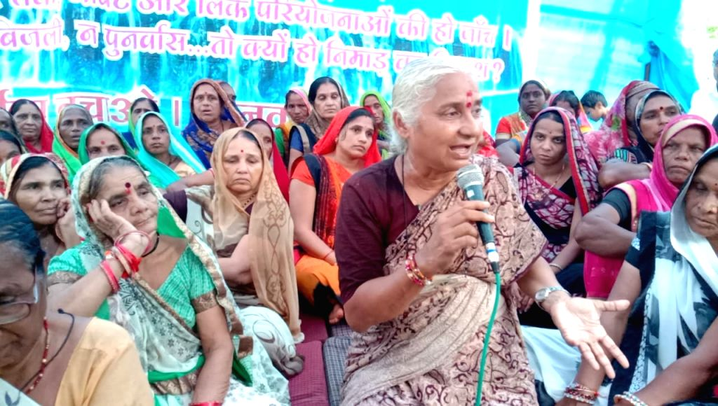 Social activist Medha Patkar during a programme in Bhopal on Aug 26, 2019.