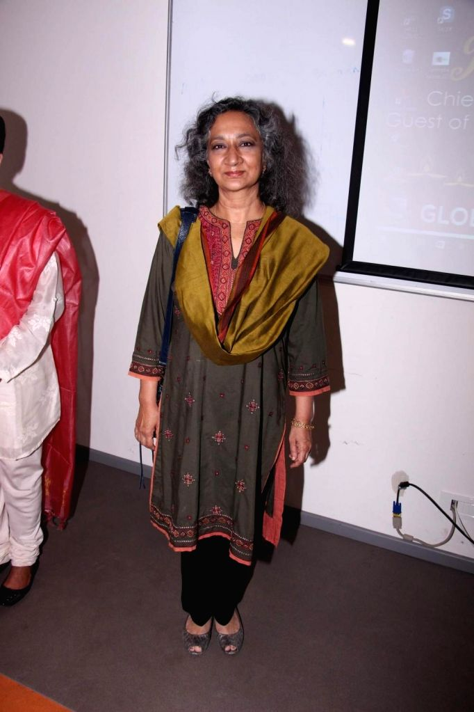 Social activist Sumaira Abdulali during an art camp for the underpriviled children, in Mumbai on Oct 28, 2016.
