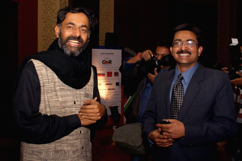 Social scientist Yogendra Singh Yadav during The CNN-IBN Indian of the Year awards function, in New delhi on December 20, 2013. - Yogendra Singh Yadav