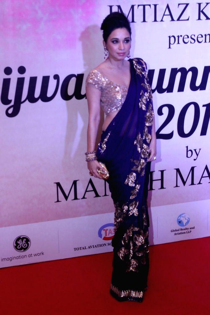Socialite Sheetal Mafatlal during the Mijwan Summer 2017 fashion show during the Mijwan Summer 2017 fashion show in Mumbai on March 5, 2017.
