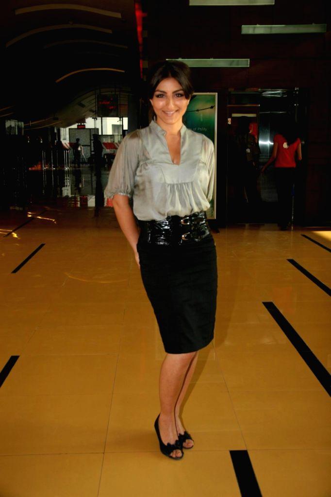 Soha Ali Khan at special screening of film 99 at Cinemax.